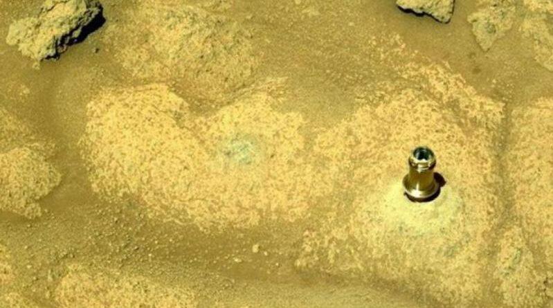 punta di trapano sulla superficie di Marte
